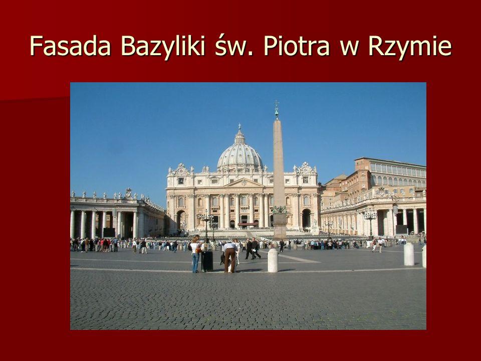 Fasada Bazyliki św. Piotra w Rzymie