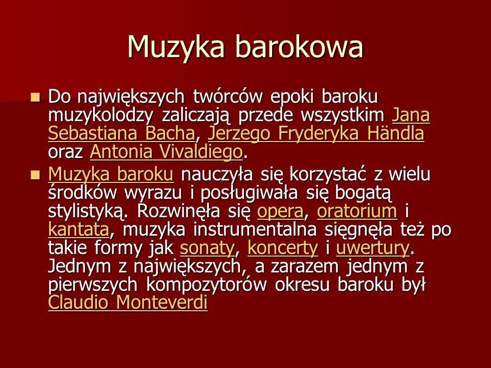 Muzyka barokowa