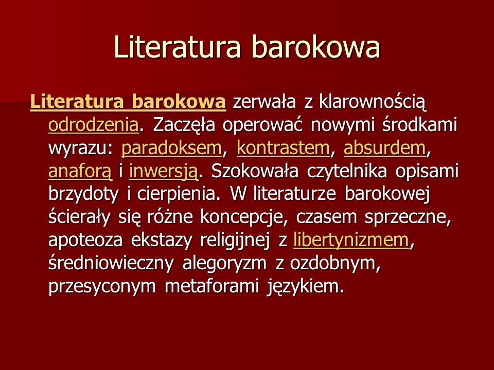 Literatura barokowa