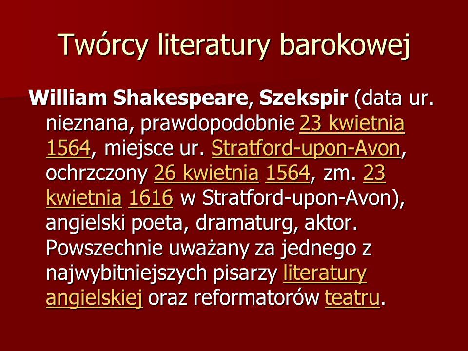 Twórcy literatury barokowej