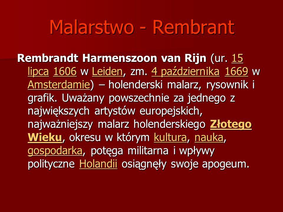 Malarstwo - Rembrant