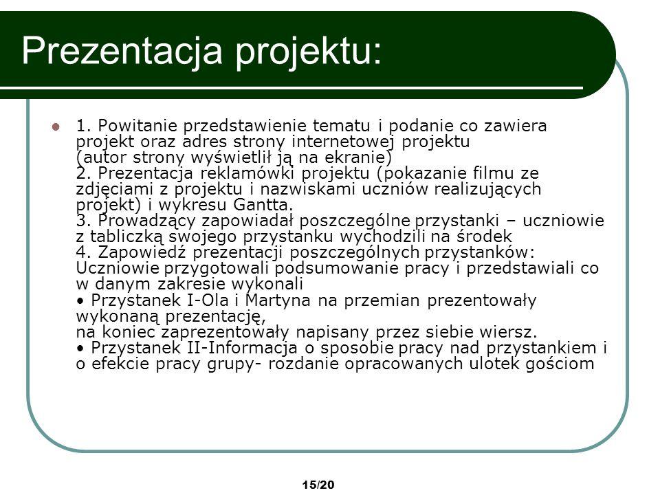 Prezentacja projektu: