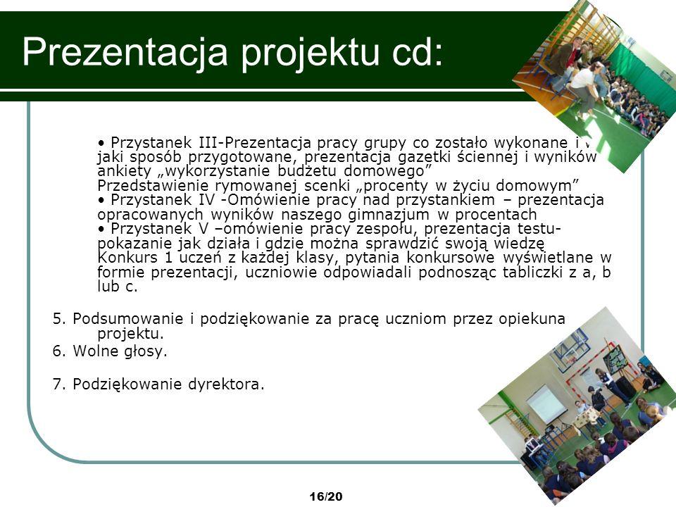 Prezentacja projektu cd: