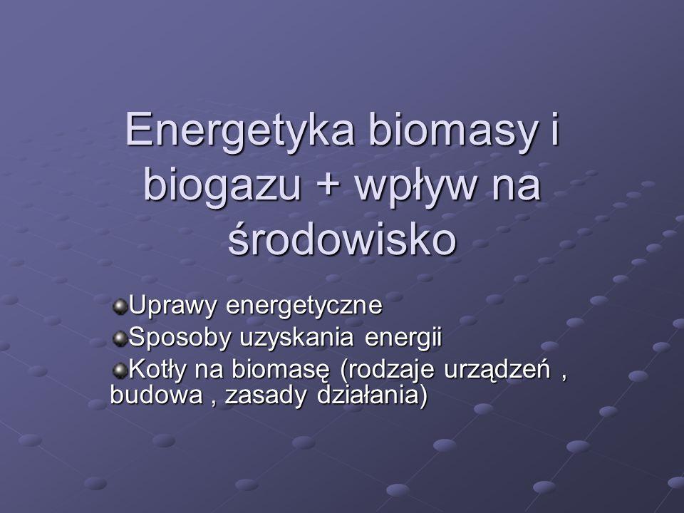 Energetyka biomasy i biogazu + wpływ na środowisko