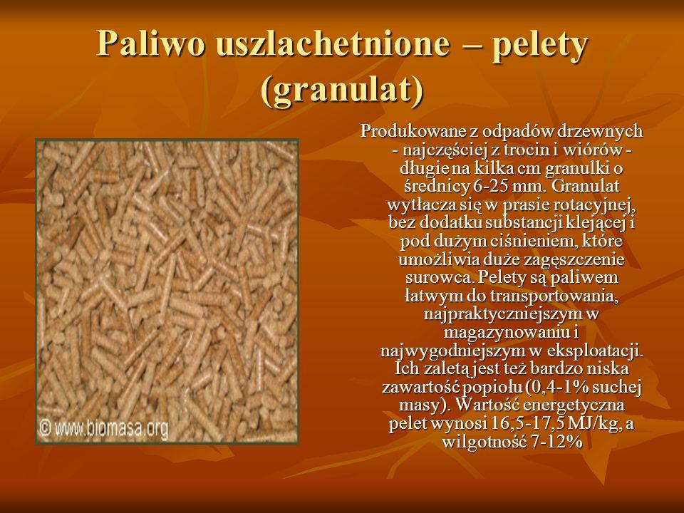 Paliwo uszlachetnione – pelety (granulat)