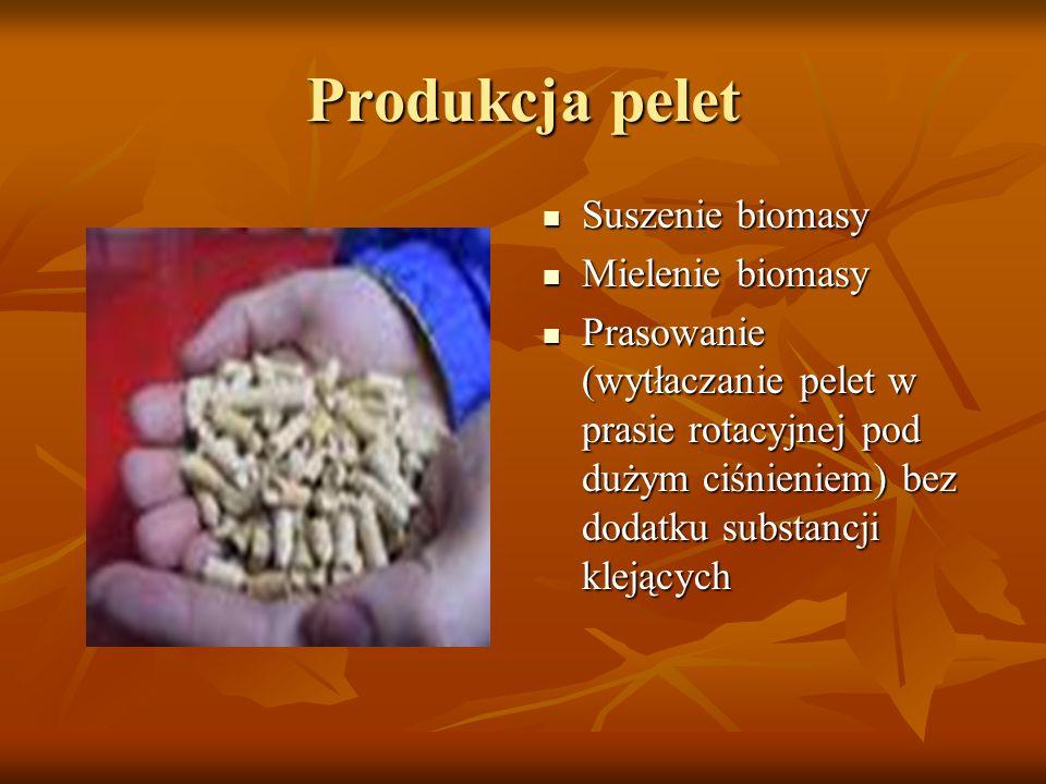 Produkcja pelet Suszenie biomasy Mielenie biomasy