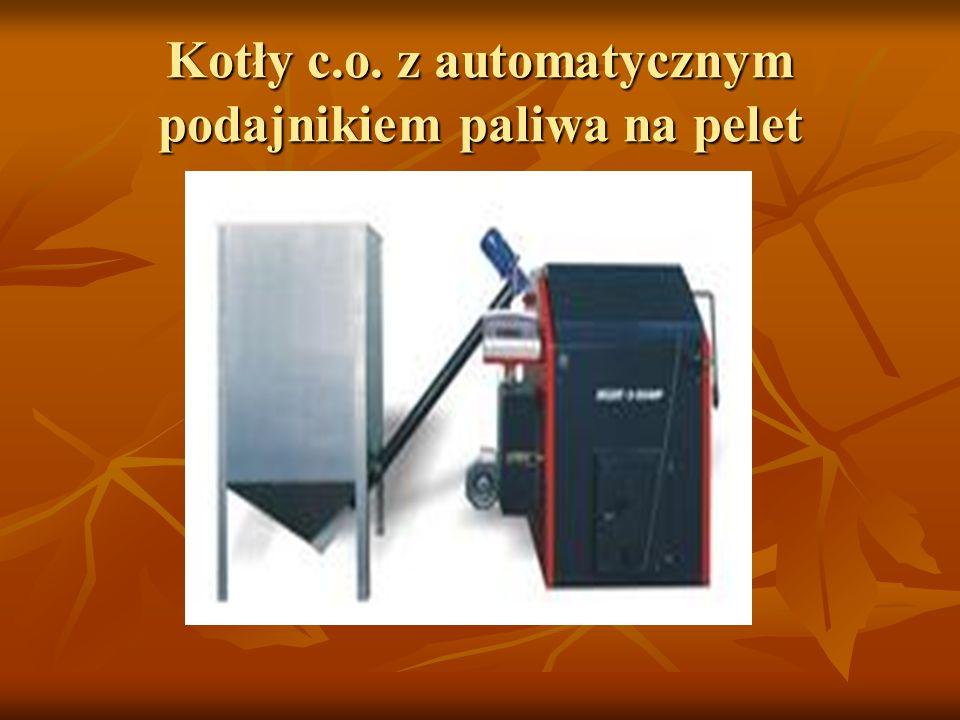 Kotły c.o. z automatycznym podajnikiem paliwa na pelet