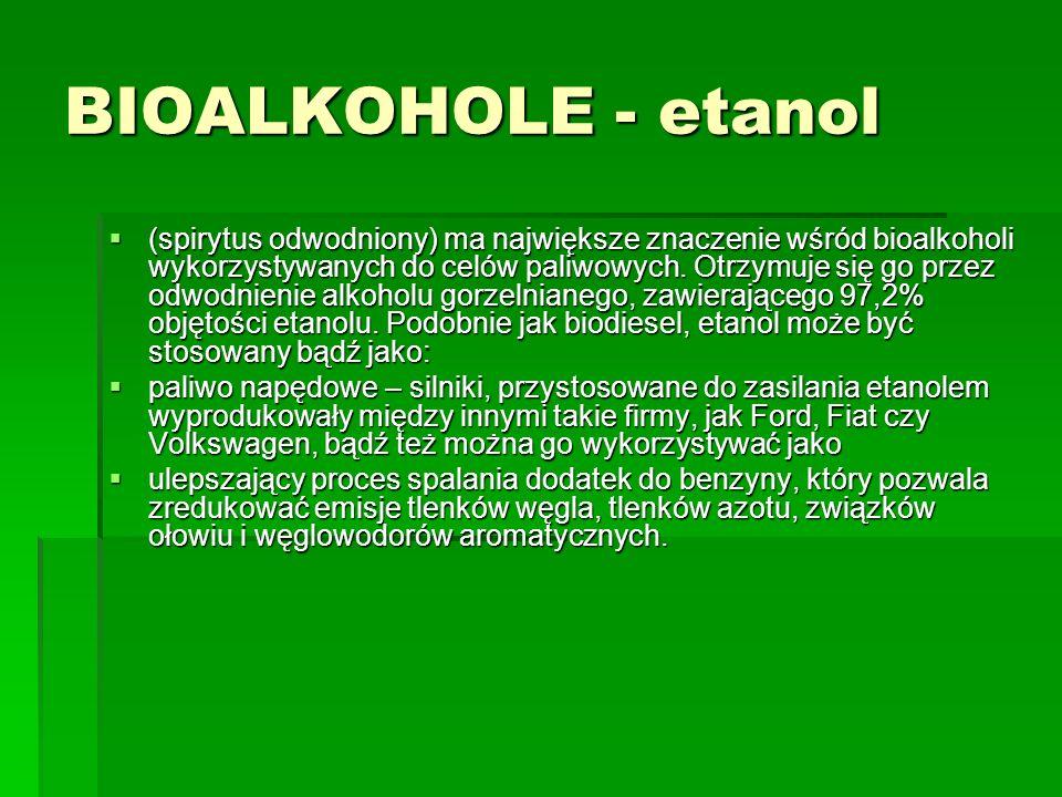 BIOALKOHOLE - etanol