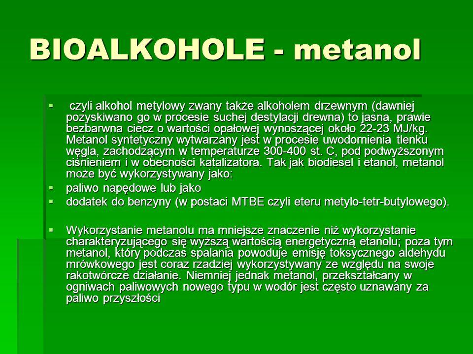 BIOALKOHOLE - metanol
