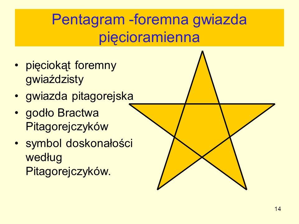 Pentagram -foremna gwiazda pięcioramienna