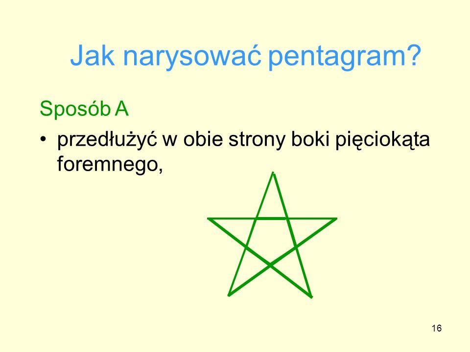 Jak narysować pentagram
