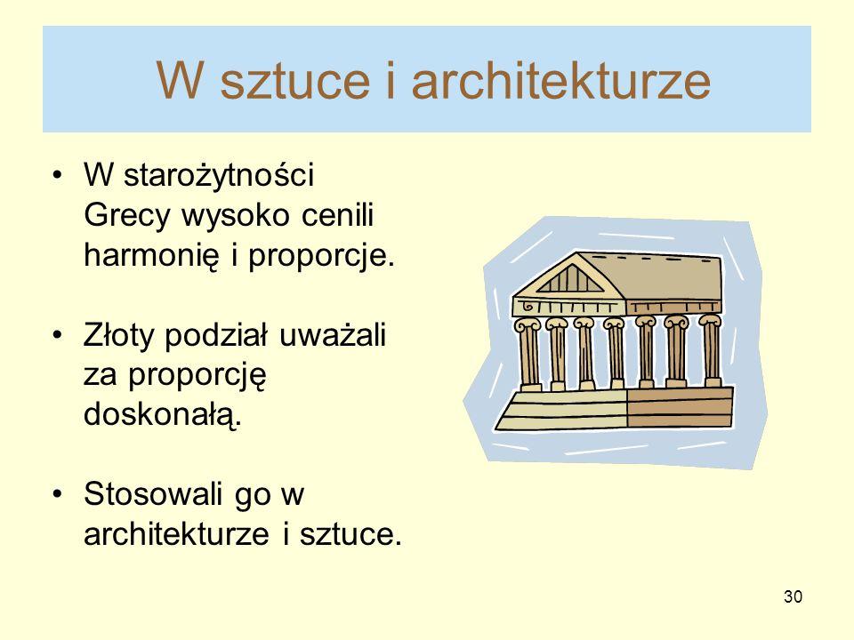 W sztuce i architekturze