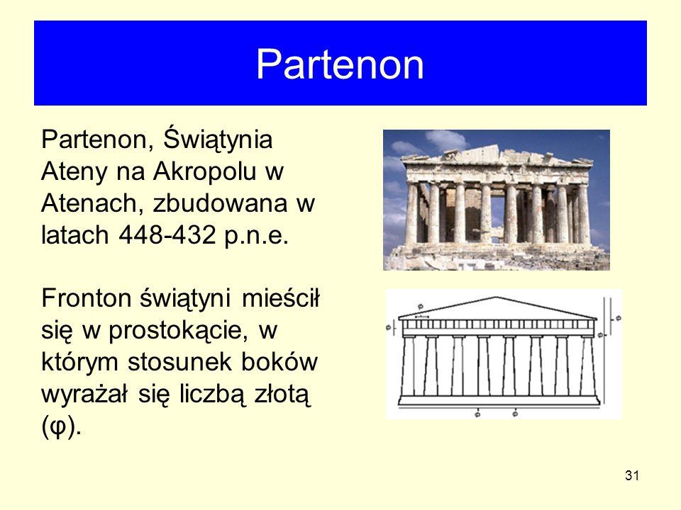 Partenon Partenon, Świątynia Ateny na Akropolu w Atenach, zbudowana w latach 448-432 p.n.e.