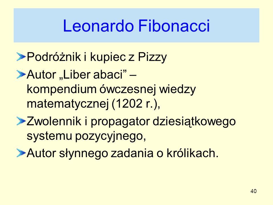 Leonardo Fibonacci Podróżnik i kupiec z Pizzy