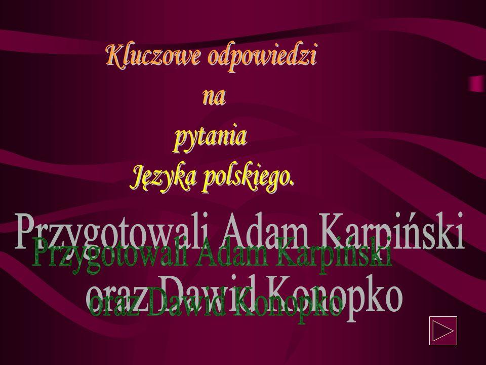 Przygotowali Adam Karpiński