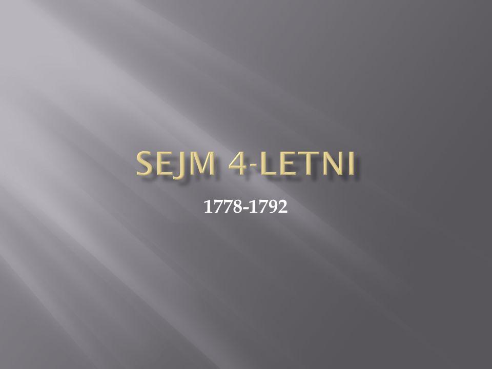 Sejm 4-letni 1778-1792