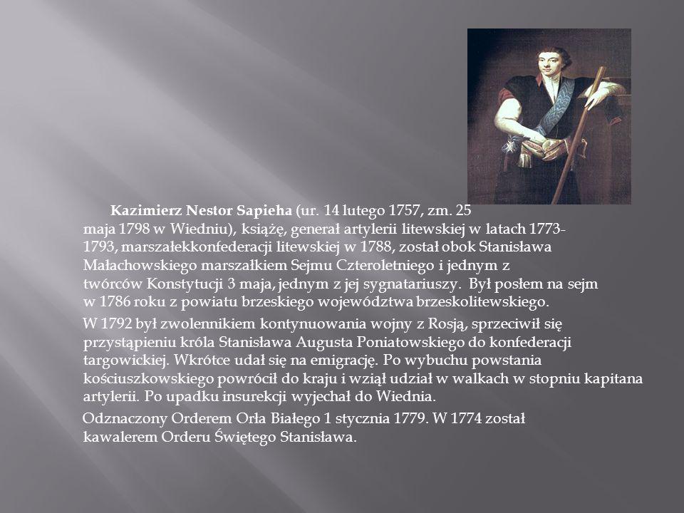 Kazimierz Nestor Sapieha (ur. 14 lutego 1757, zm