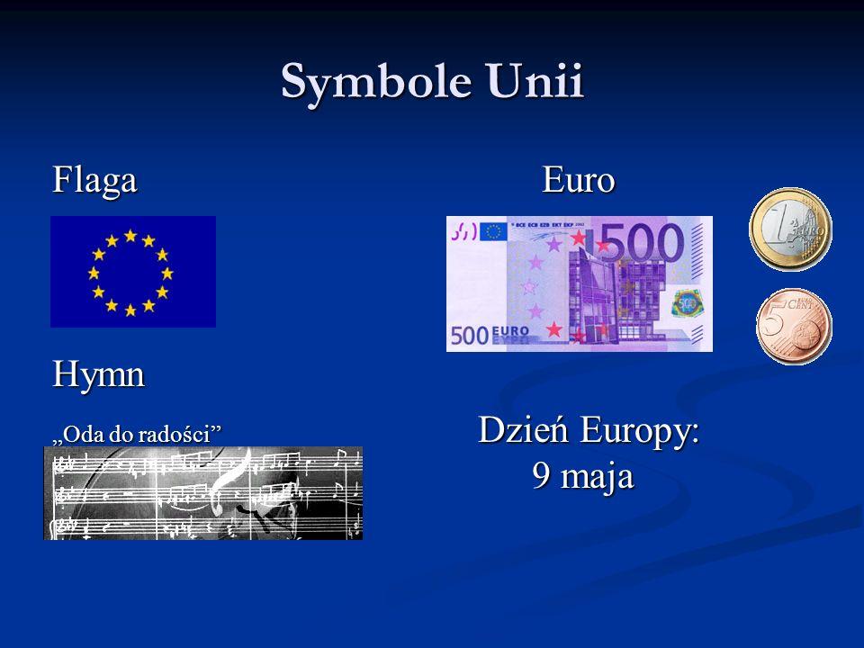 Symbole Unii Flaga Euro. Hymn.