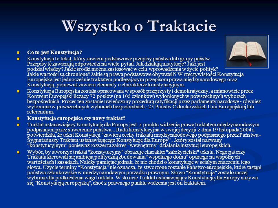 Wszystko o Traktacie Co to jest Konstytucja