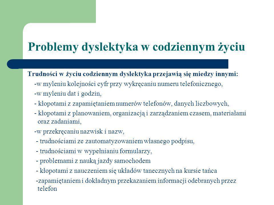 Problemy dyslektyka w codziennym życiu