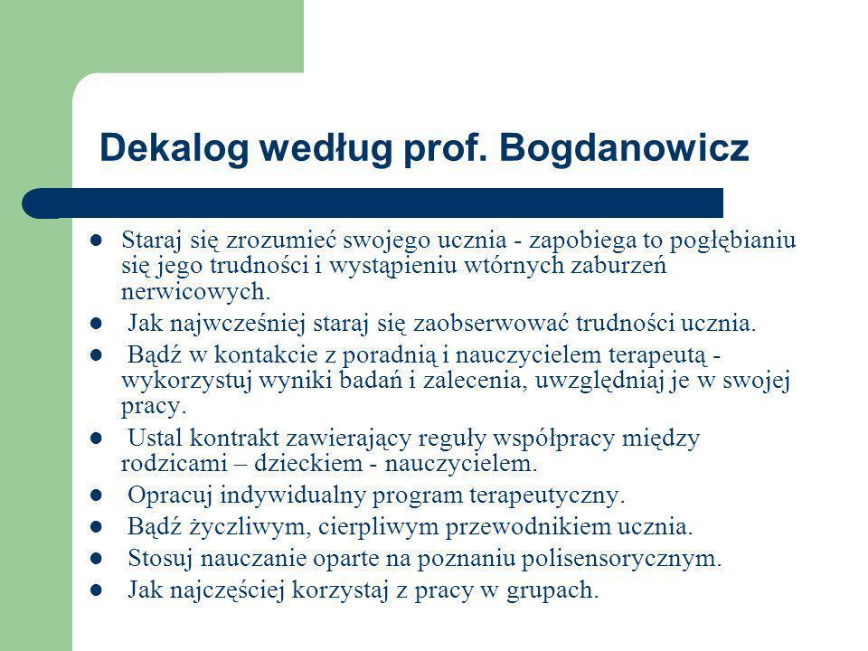 Dekalog według prof. Bogdanowicz