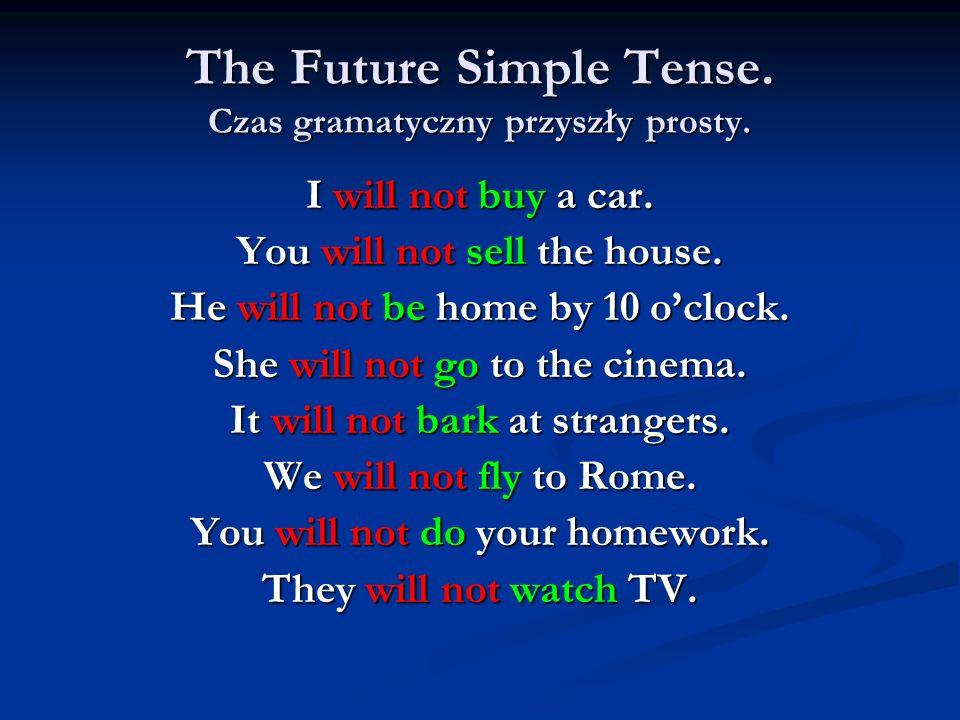 The Future Simple Tense. Czas gramatyczny przyszły prosty.