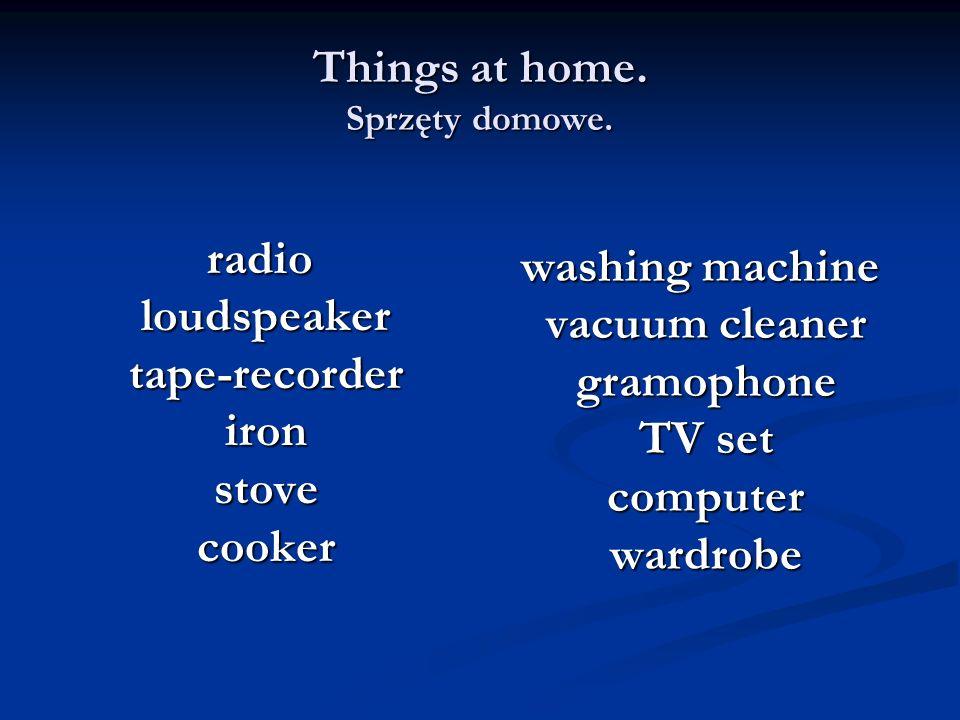 Things at home. Sprzęty domowe.