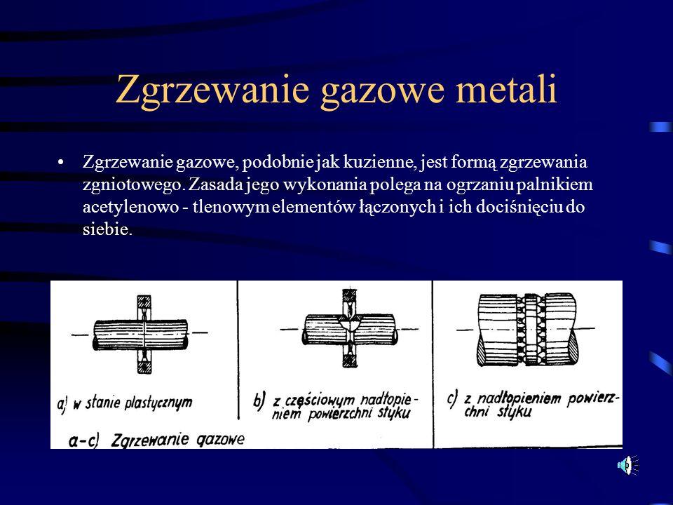 Zgrzewanie gazowe metali