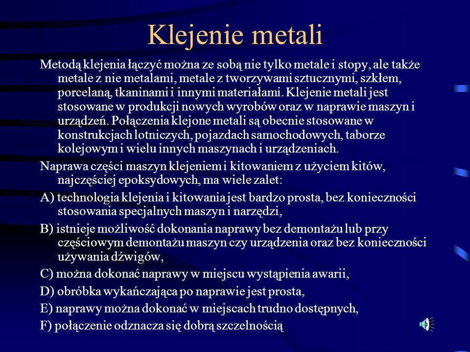 Klejenie metali