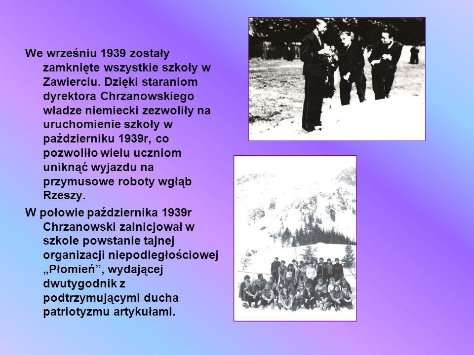 We wrześniu 1939 zostały zamknięte wszystkie szkoły w Zawierciu