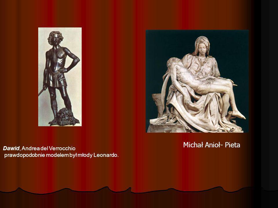 Michał Anioł- Pieta Dawid, Andrea del Verrocchio