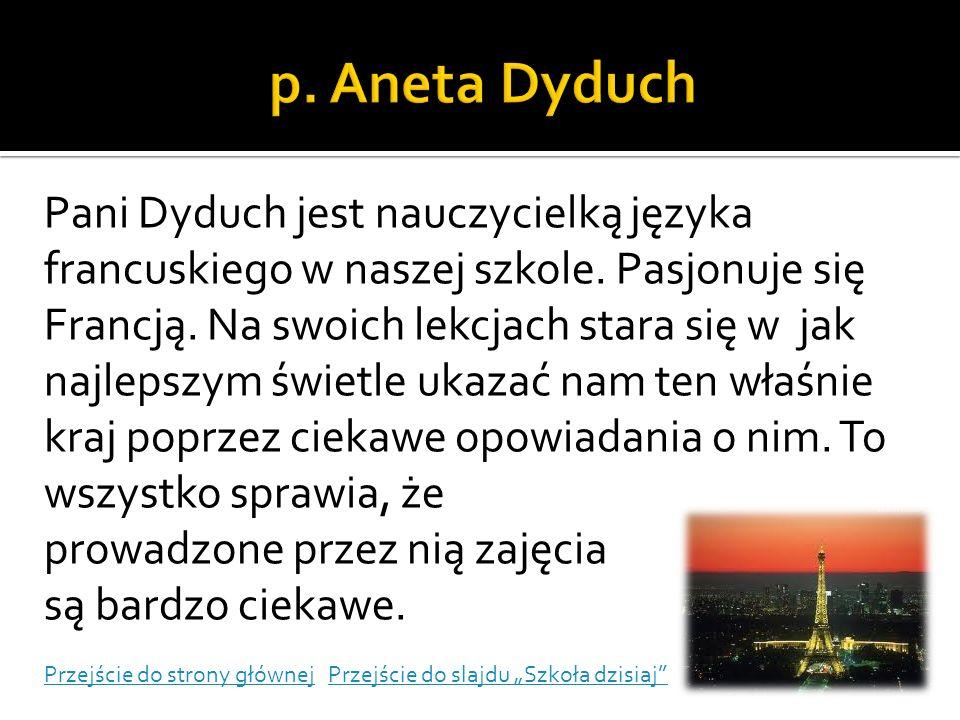p. Aneta Dyduch
