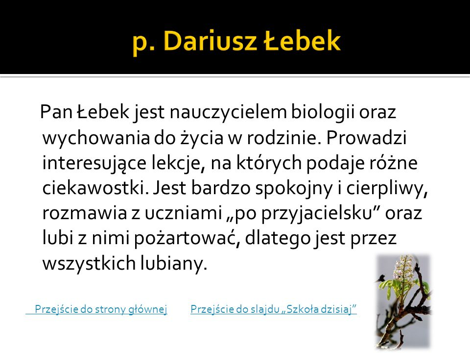 p. Dariusz Łebek
