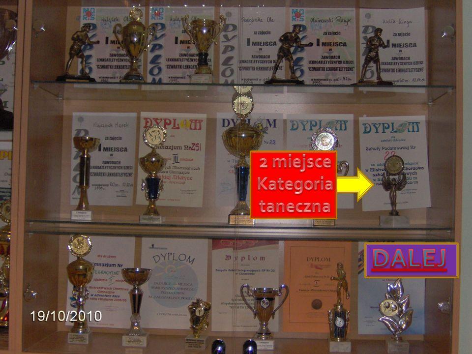 2 miejsce Kategoria taneczna DALEJ