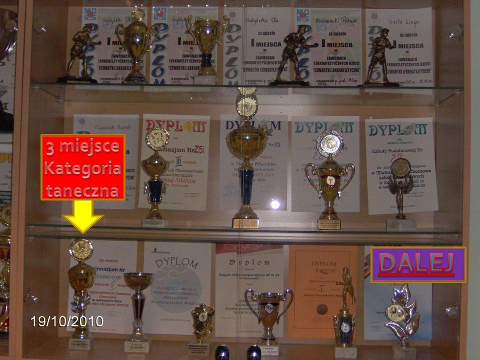 3 miejsce Kategoria taneczna DALEJ