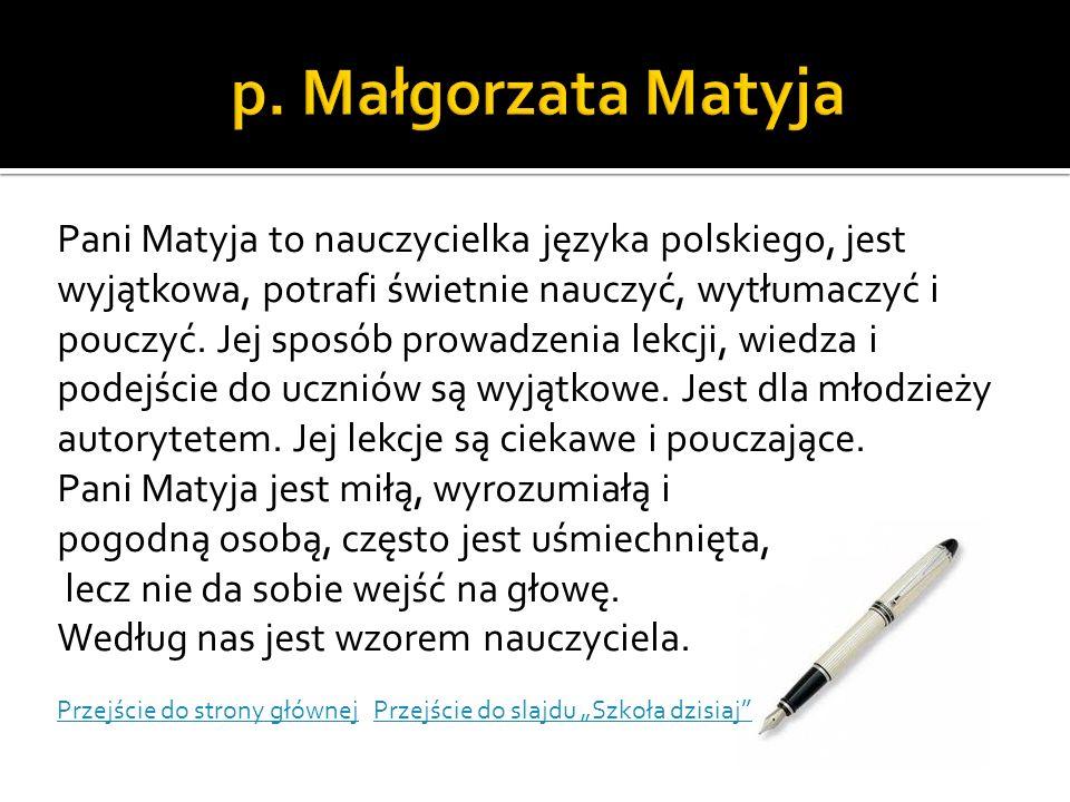 p. Małgorzata Matyja