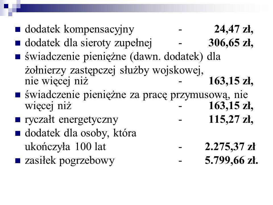 dodatek kompensacyjny - 24,47 zł,