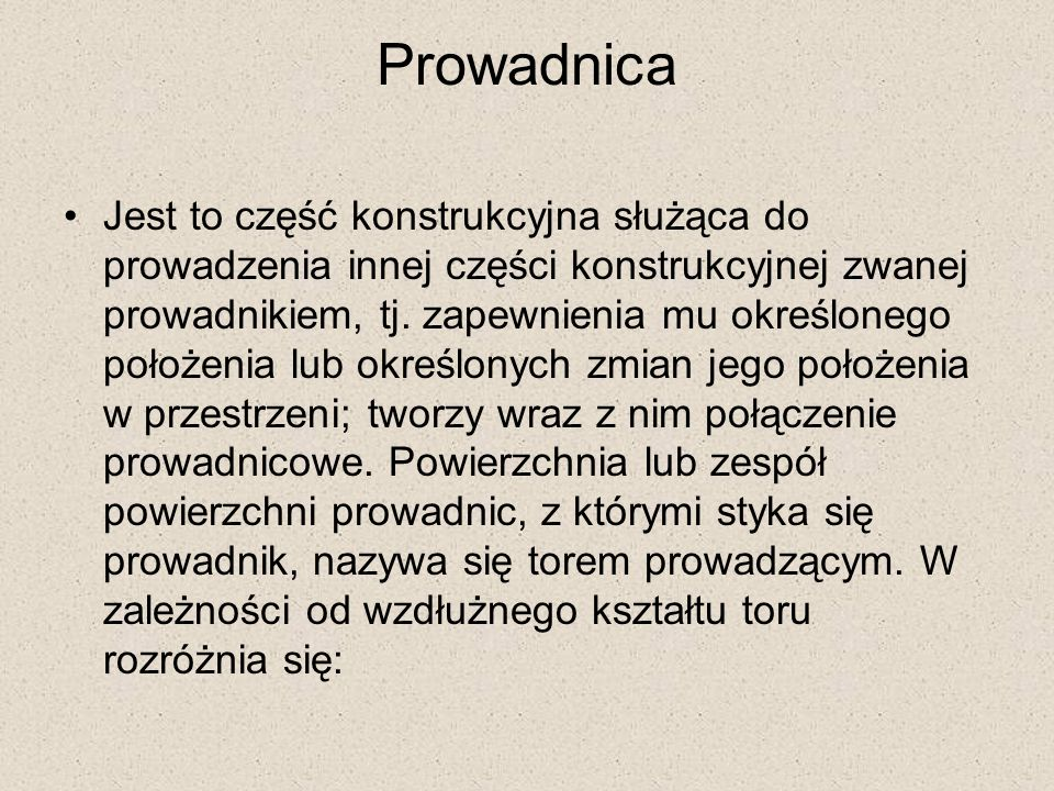 Prowadnica