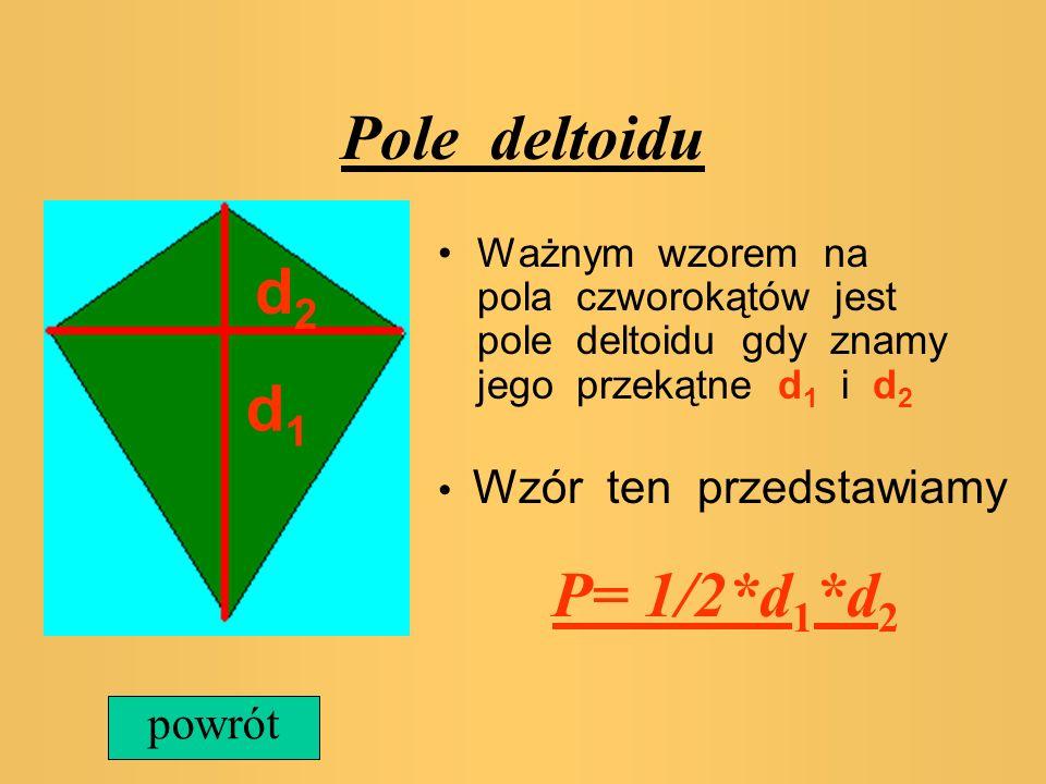Pole deltoidu d2 d1 powrót