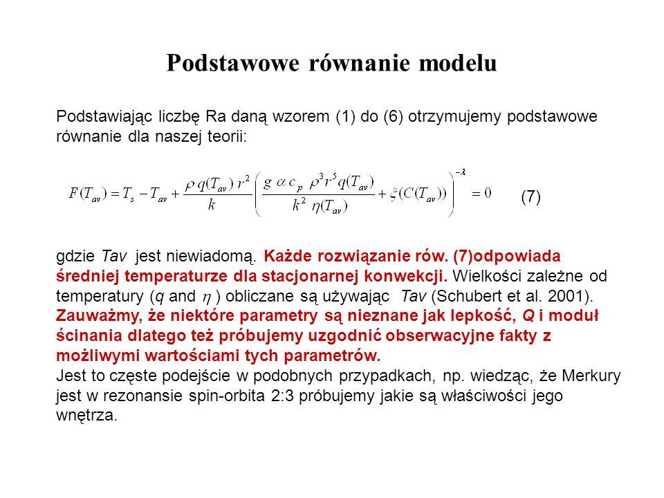 Podstawowe równanie modelu