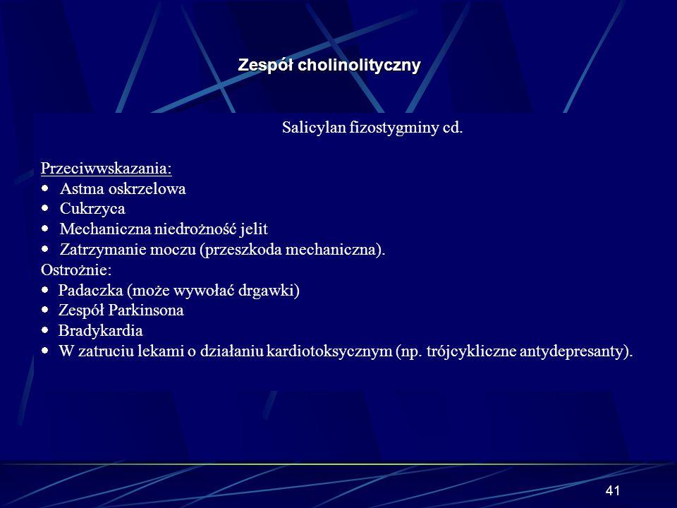 Salicylan fizostygminy cd.