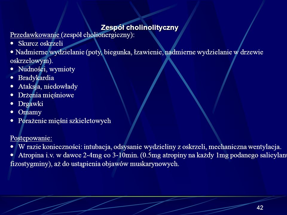 Zespół cholinolityczny