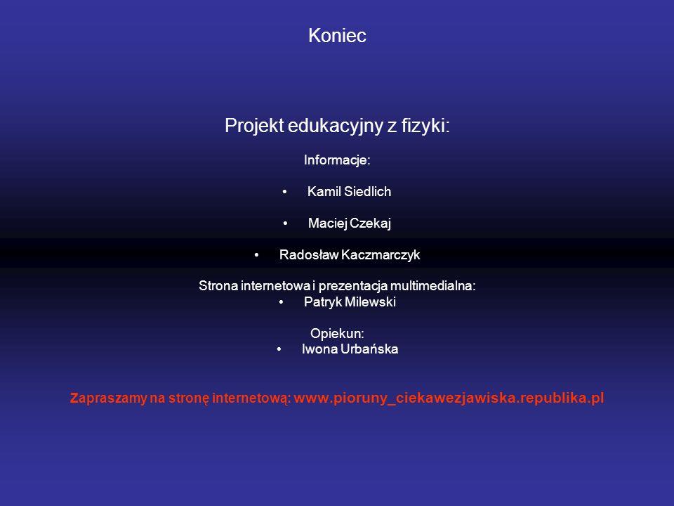 Projekt edukacyjny z fizyki: