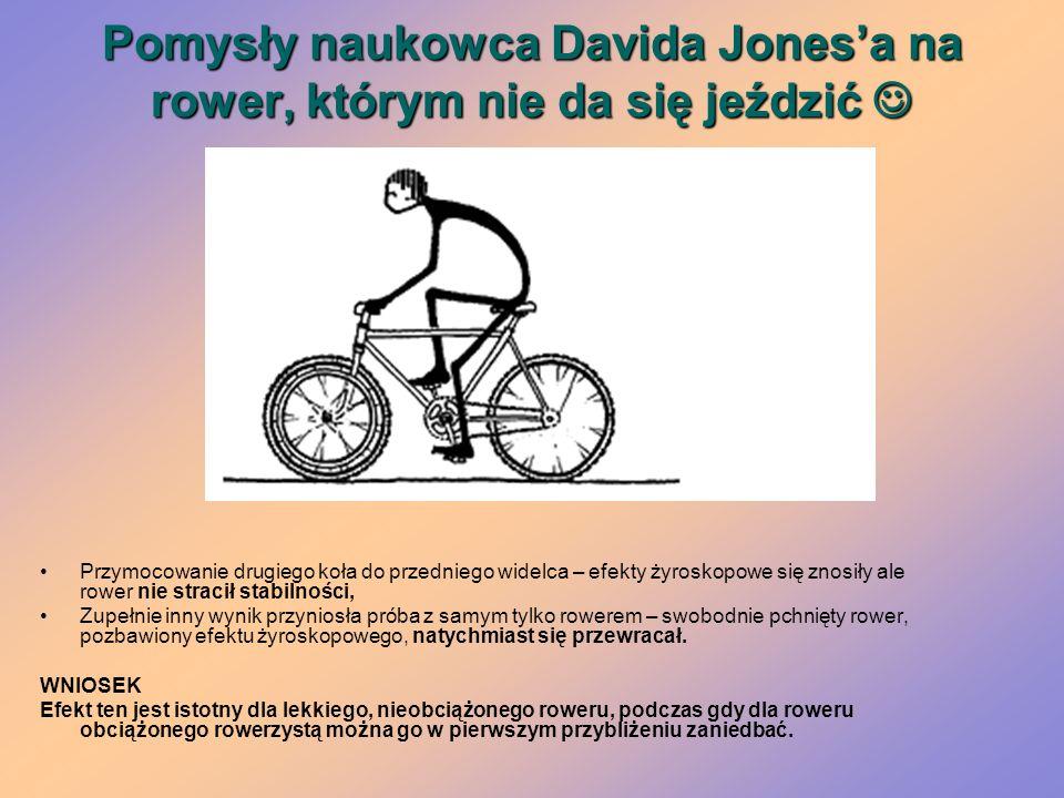 Pomysły naukowca Davida Jones'a na rower, którym nie da się jeździć 
