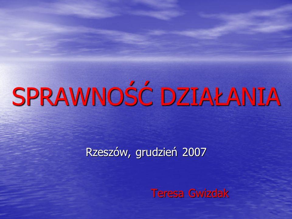Rzeszów, grudzień 2007 Teresa Gwizdak