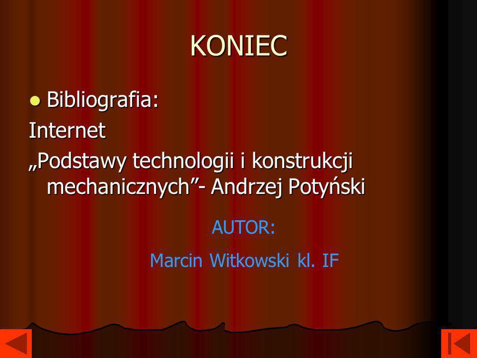 KONIEC Bibliografia: Internet