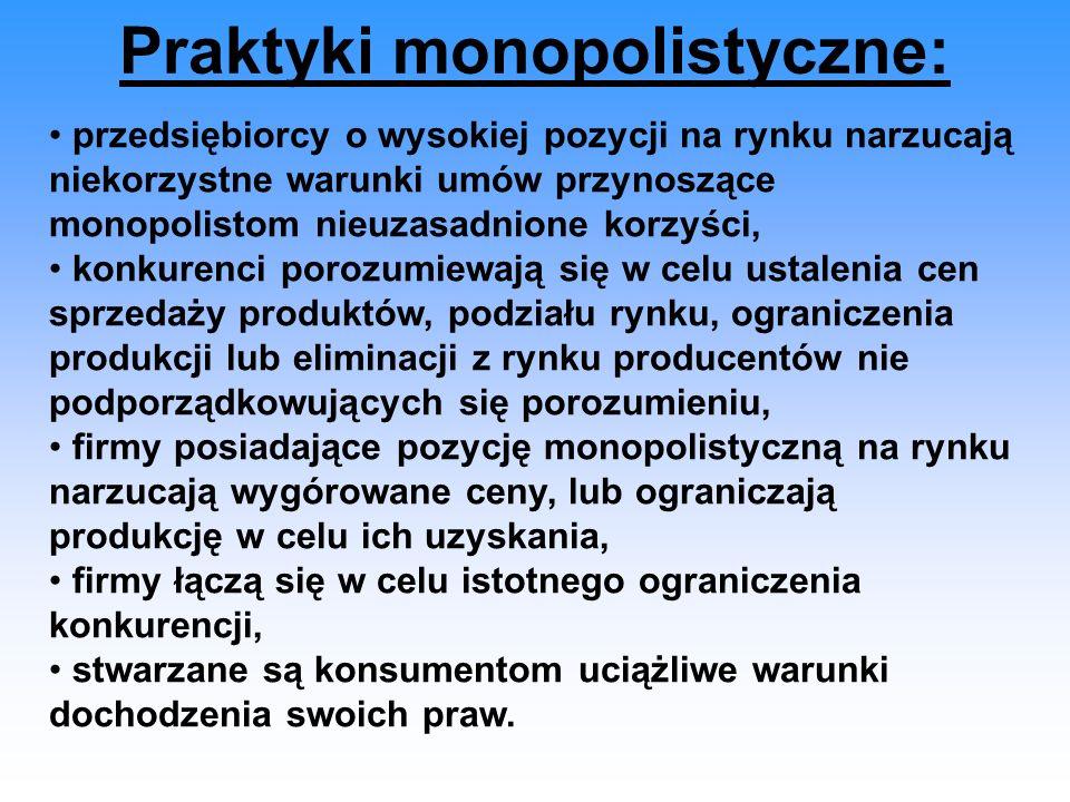Praktyki monopolistyczne: