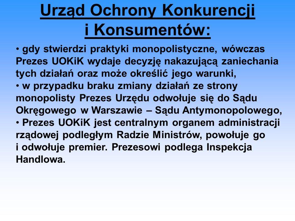 Urząd Ochrony Konkurencji i Konsumentów: