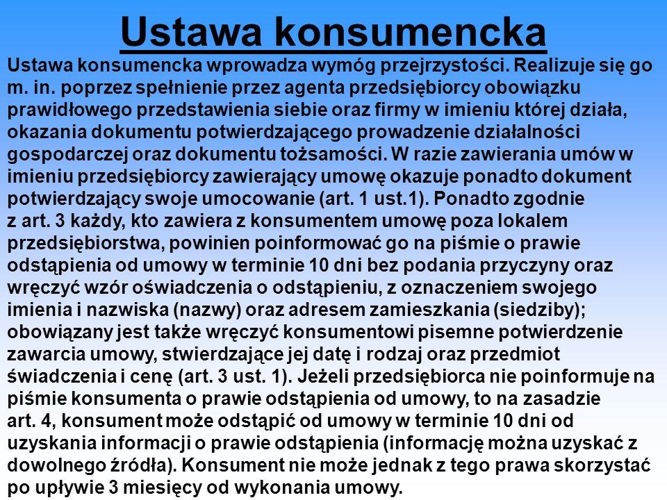 Ustawa konsumencka