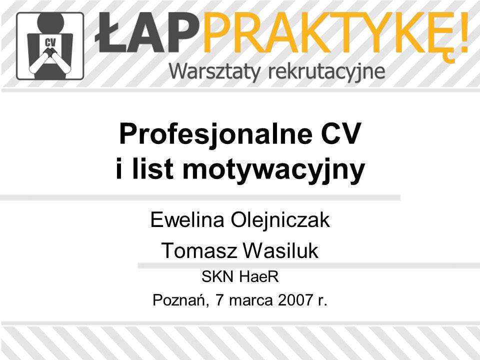 Profesjonalne CV i list motywacyjny